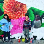 Updated: Muralist's art and community help her battle cancer