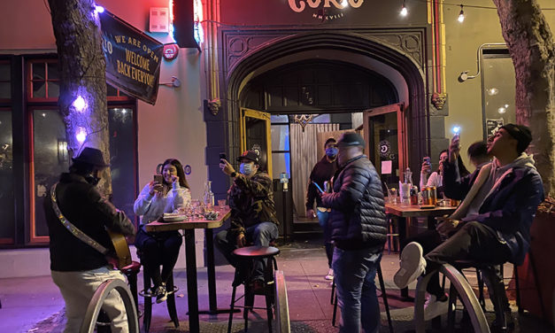 With COVID-19 cases high, Valencia St. became a 'street fair'
