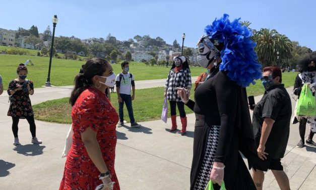 Mayor Breed and the Sisters say 'wear your mask' during the Labor Day weekend