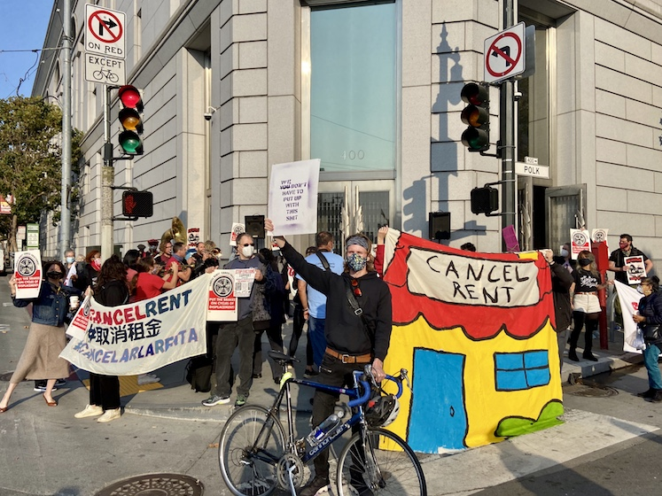 As eviction court resumes, SF tenants demand a halt to all evictions