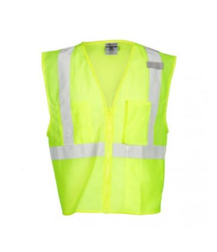 ML Kishigo 3 Pocket Zipper Mesh Lime Vest - XXL