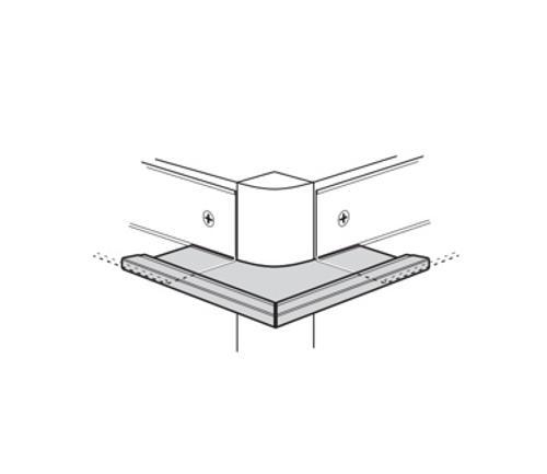 3/4 in USG Donn Brand 90° Outside Corner Cap for 7/8 in Molding - JB14