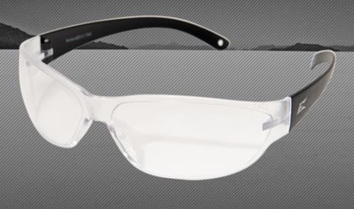 Edge Eyewear Savoia Safety Glasses - Polycarbonate Matte Black Frame/Non-Polarized Clear Lens
