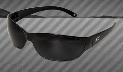 Edge Eyewear Savoia Safety Glasses - Black Frames/Non-Polarized Smoke Lens