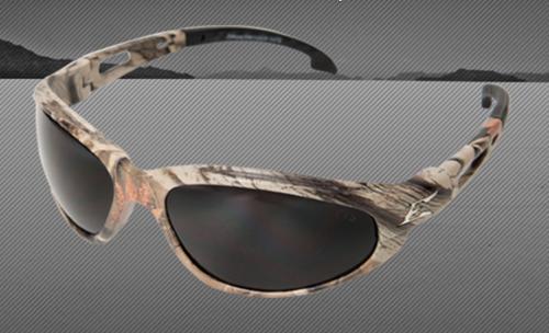 Edge Eyewear Dakura Safety Glasses - Camouflage Nylon Frame/Non-Polarized Smoke Lens