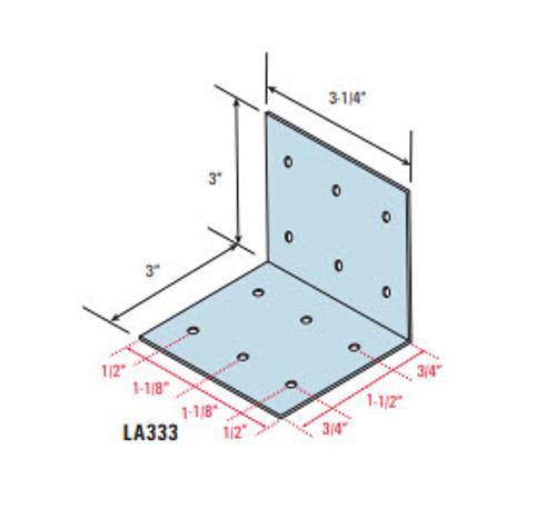 3 in x 3 in x 3 1/4 in x 14 Gauge Marino\WARE FrameRite Large Utility Clip