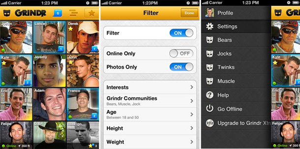 grindr  new features