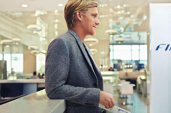 Finnair lounge Helsinki