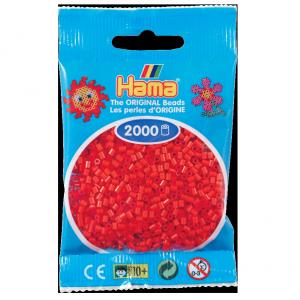 2000 cuentas mini color Rojo