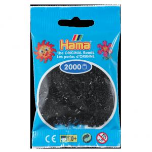 2000 cuentas mini color Negro