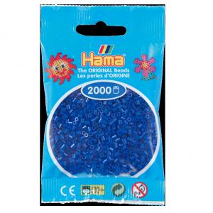 2000 cuentas mini color Azul