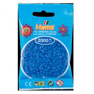 2000 cuentas mini color Celeste