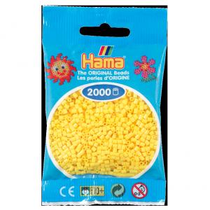 2000 cuentas mini color Amarillo