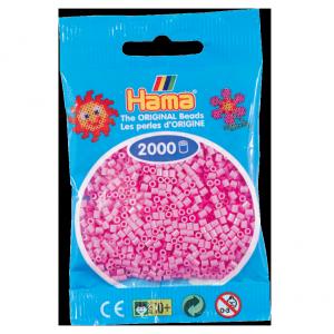 2000 cuentas mini color Rosado