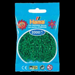 2000 cuentas mini color Verde