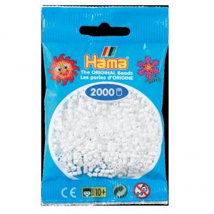 2000 cuentas mini color Blanco