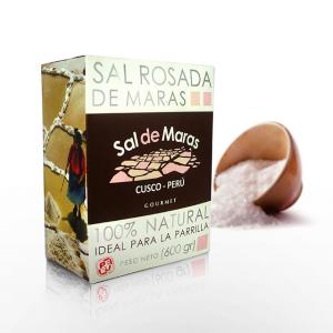 Sal Rosada de Maras. Caja x 600gr. Ideal para Parrilla