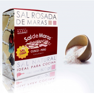 Sal Rosada de Maras. Caja x 600gr. Ideal para Cocina