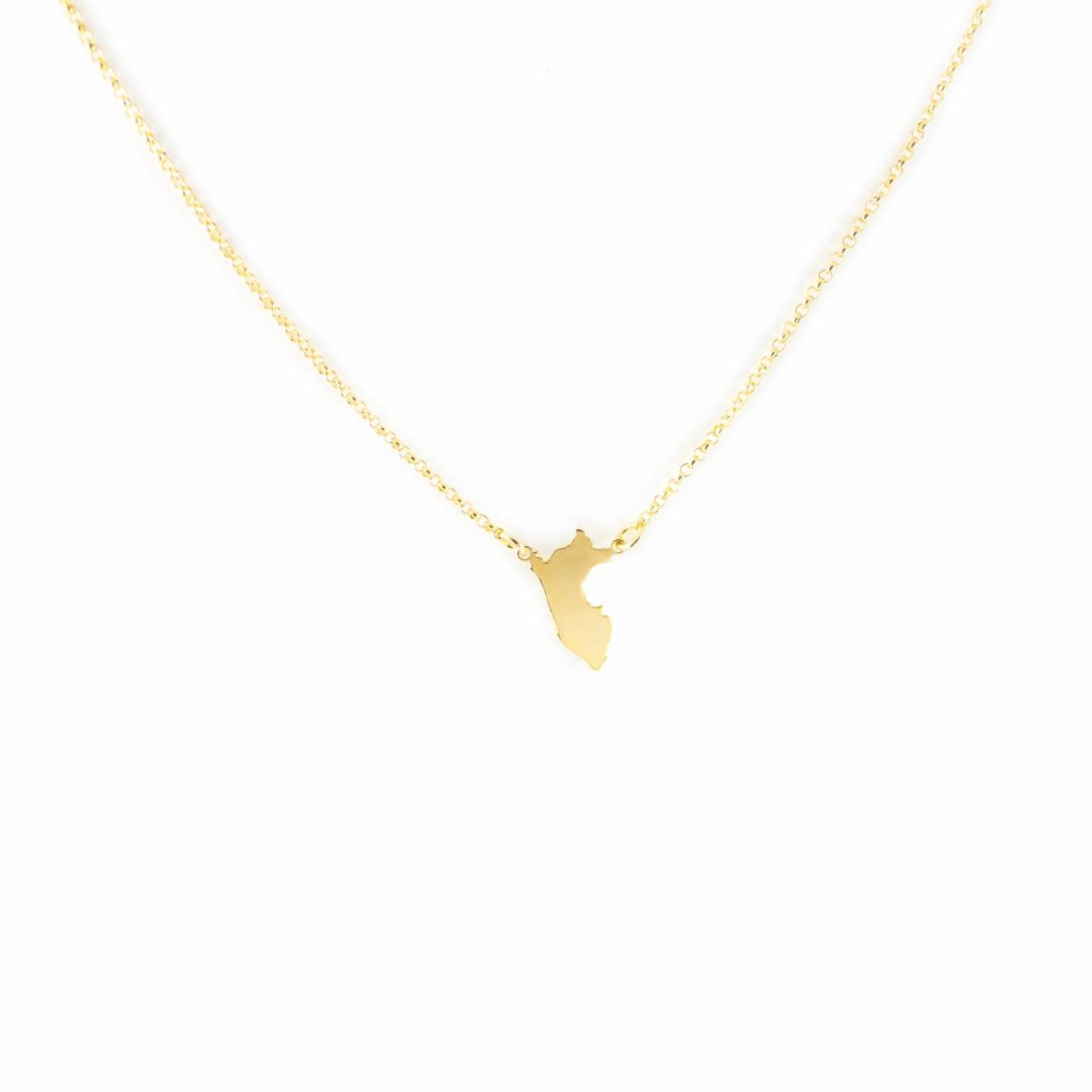 a13905720341 Collar Perú de plata enchapada en oro