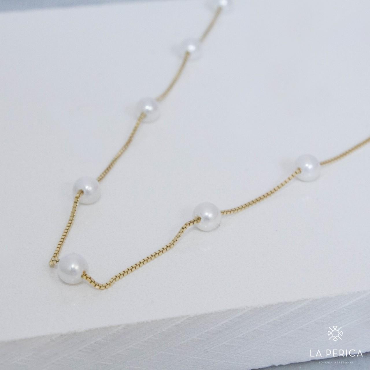 bf5039d962f4 Collar con perlas (Plata enchapada en oro)