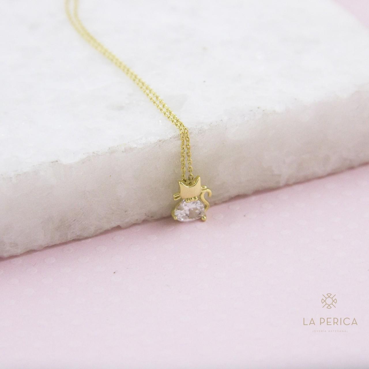 4f26b5aea38d Collar gatito (plata enchapad en oro)