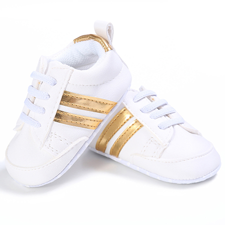 Zapatillas Tennies Blanco con dorado