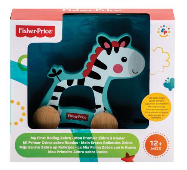Fisher Price - Mi Primer Zebra sobre Ruedas de Madera
