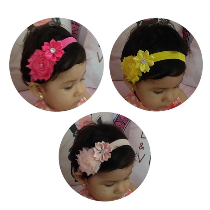 ROMYNE - Vinchas para niñas con Flores
