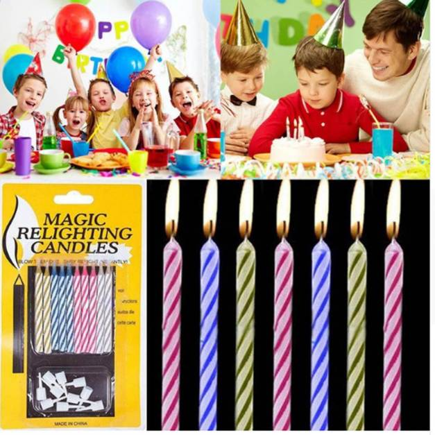 Velas Mágicas de cumpleaños