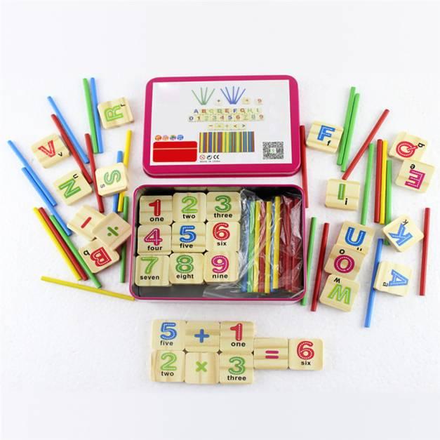 Caja con Números - Letras y Palitos