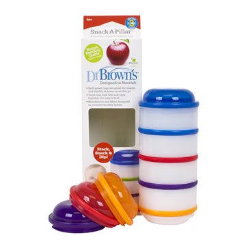 Dr. Brown's - Set de 4 tazas snacks apilables para bebés 6m+