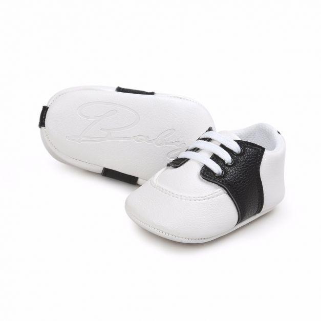 Zapato Blanco con negro - Baby Fashion