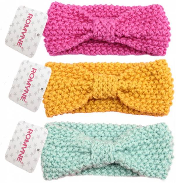 Vinchas tejidas para niñas.