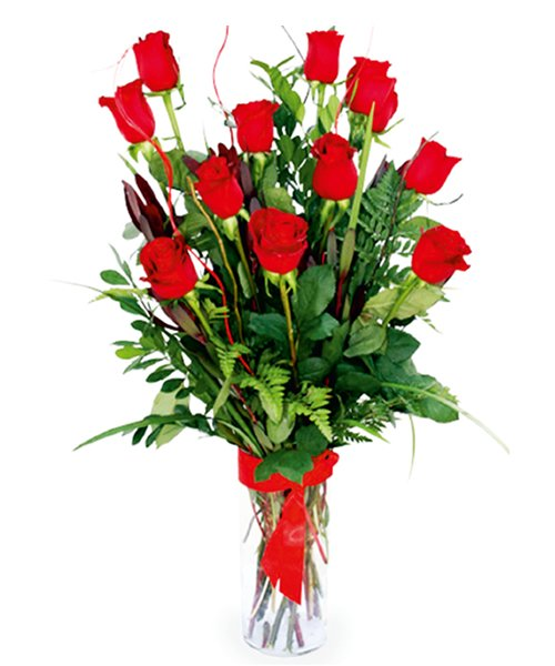 Florero de rosas....