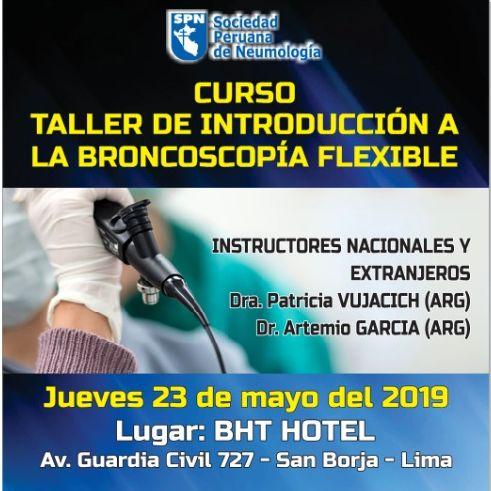 CURSO – TALLER DE INTRODUCCIÓN A LA BRONCOSCOPÍA FLEXIBLE - 2019