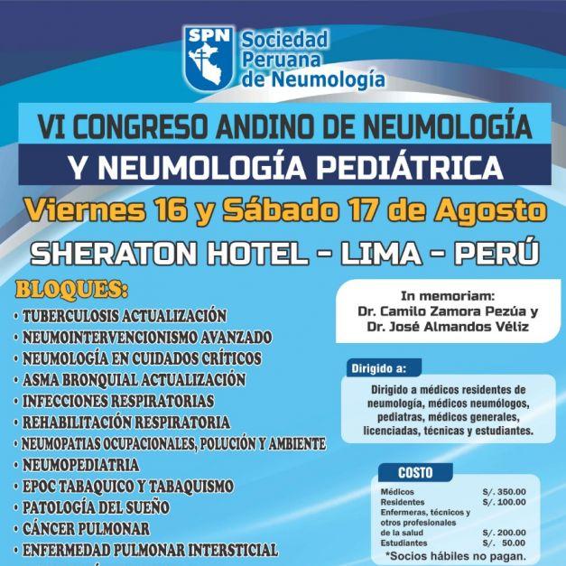 VI Congreso Andino de Neumologia y Neumología Pediátrica