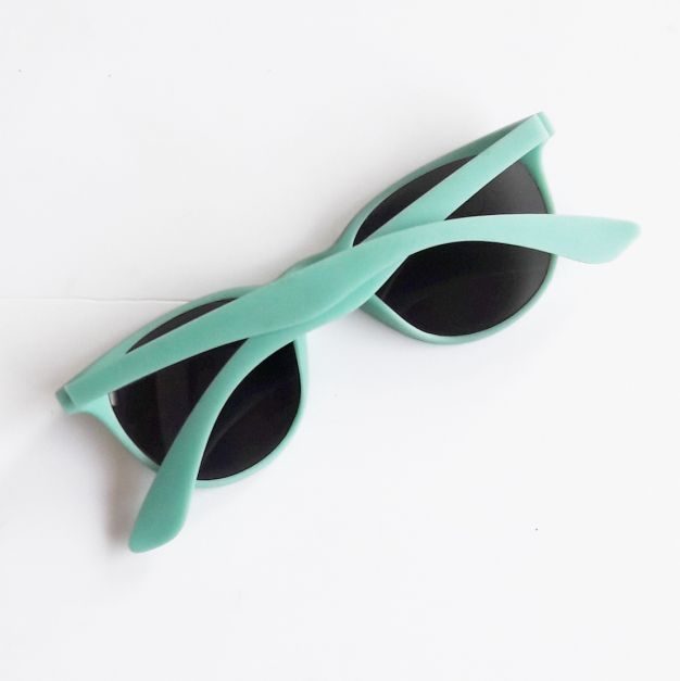 lentes negros, montura verde agua  (#33THRIFTSHOP)