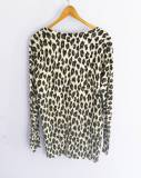 Cardigan estampado animal print  (#33THRIFTSHOP)