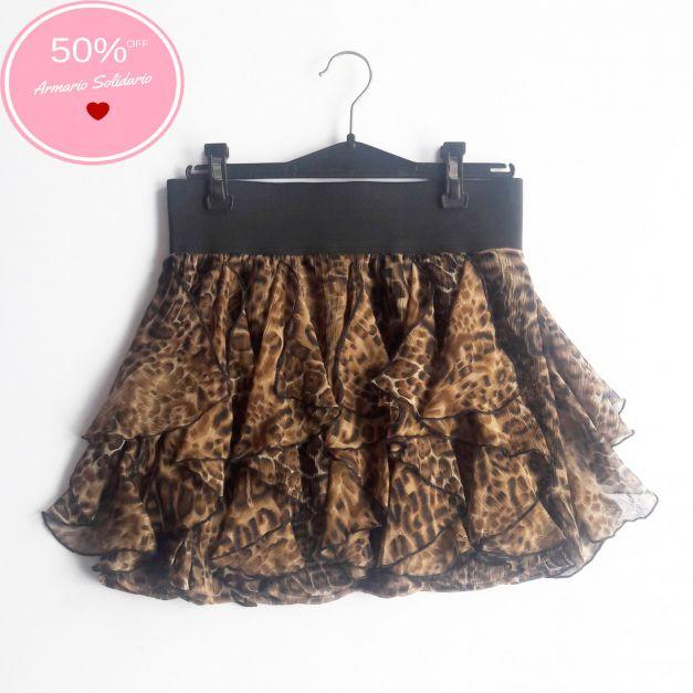 Falda estampado animal print  (#33THRIFTSHOP)