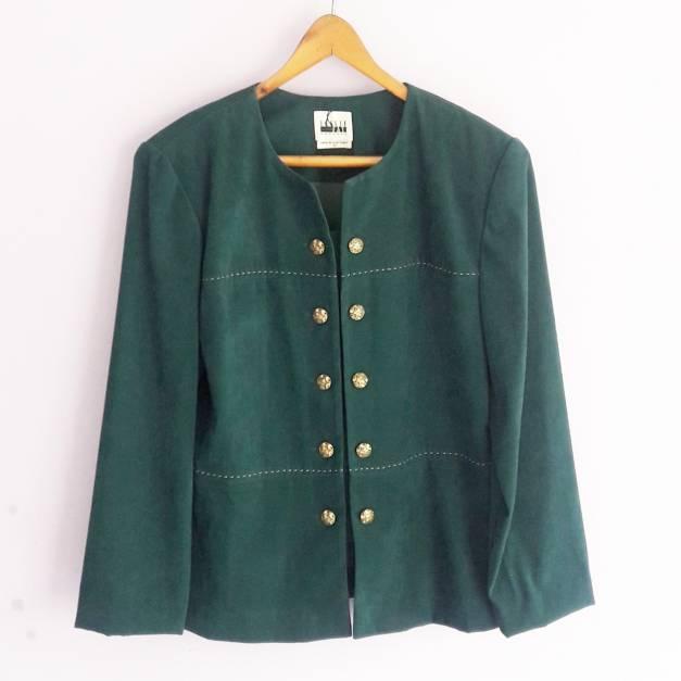 Blusa verde con botones dorados ( estilo vintage) (#33THRIFTSHOP)