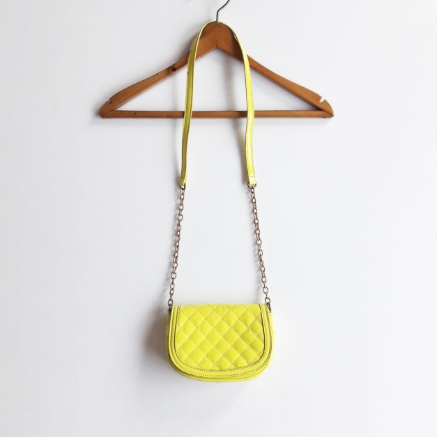 Cartera asa larga amarillo neón  (#33THRIFTSHOP)