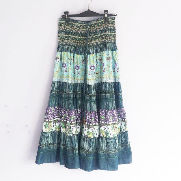 Falda vestido larga varios estampados   (#33THRIFTSHOP)