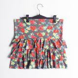 Falda de volantes estampado  de flores  (#33THRIFTSHOP)