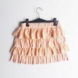 Falda coral de volantes  (#33THRIFTSHOP)