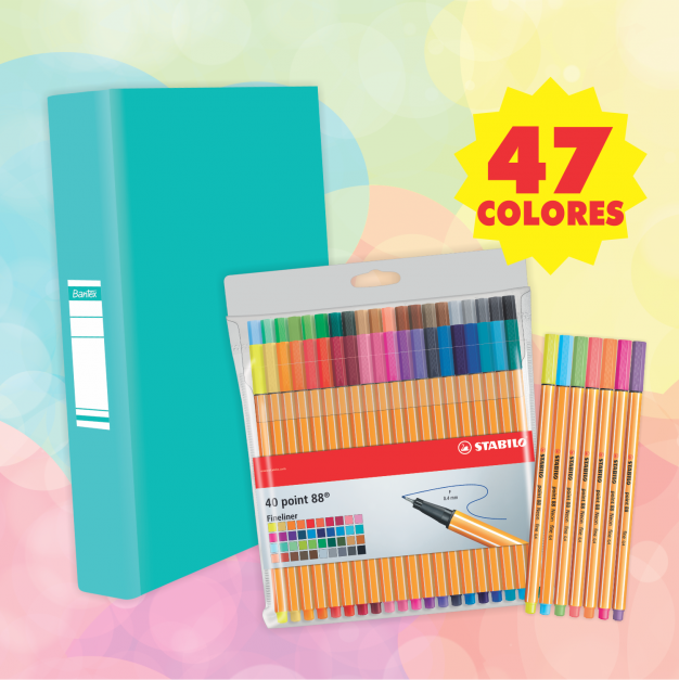POINT 88 (47 colores + PIONER TURQUESA)