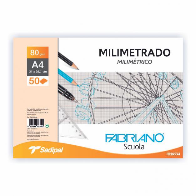 MILIMETRADO BLOC ENCOL. A4 50 HOJAS 80G