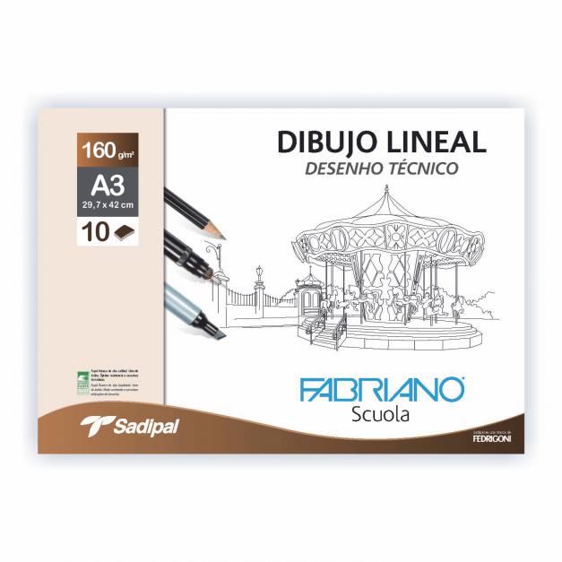 DIBUJO LINEAL SOBRE POCHETTE GN A3 160GR-100HJ