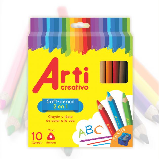 SOFT PENCIL X 10 UNID. CON TAJADOR