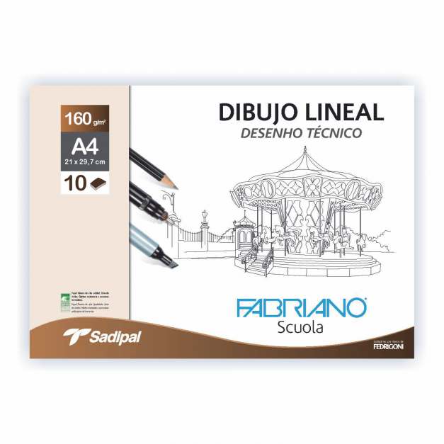 DIBUJO LINEAL SOBRE GN A4 10 HOJAS 160G