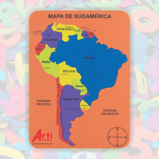 MAPA DE SUDAMÉRICA - JUEGO DIDÁCTICO